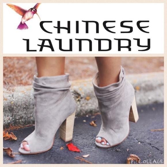 New Chinese Laundry Grey Suede Peeptoe