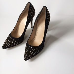 Enzo Angiolini Shoes - Enzo Angiolini black suede studded pumps