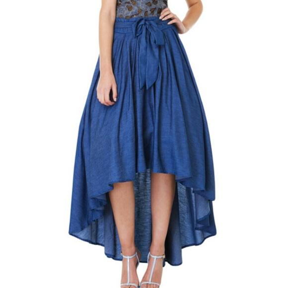 9bec07f55c GRACIA Hi-Low Denim Skirt