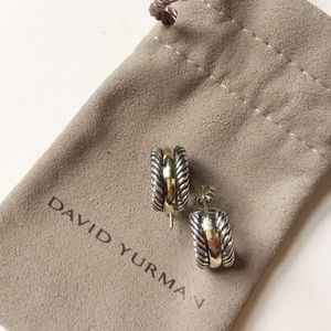 David Yurman 'Cable Classics' Hoop Earring w/Gold