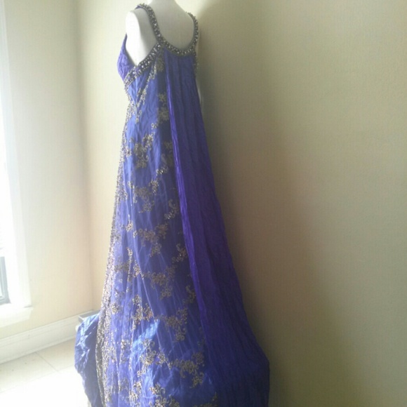 Vintage Dresses | Hand Beaded Mardi Gras Ball Gown W Train | Poshmark