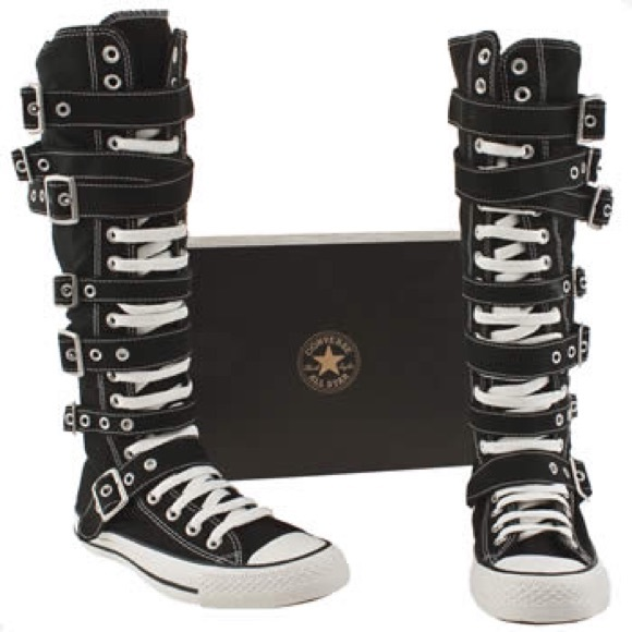Converse Shoes - Knee High Converse with Buckles 52a78a7a5