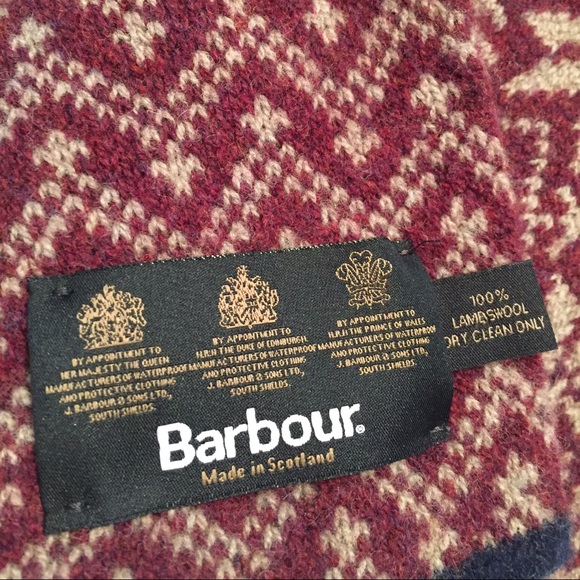 79% off Barbour Accessories - Barbour Fair Isle Scarf from ...