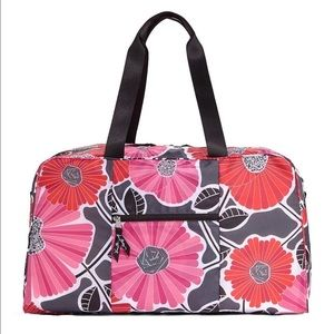 Vera Bradley Collapsible Duffel in Cheery Blossoms