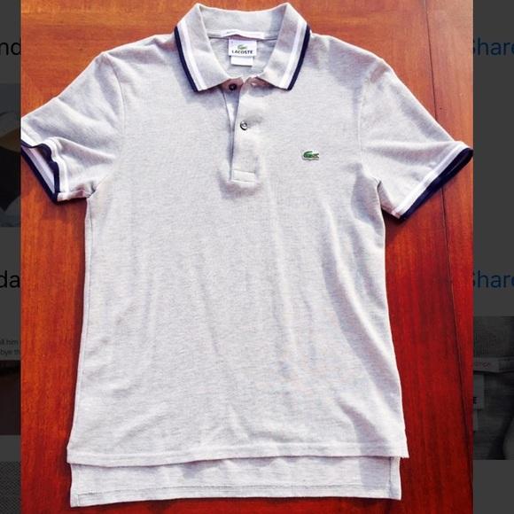 Lacoste polo men's size 3 slim fit
