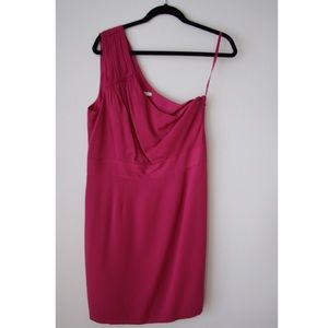 Banana Republic bright pink one-shoulder dress