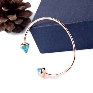 Rise Gold & Turquoise Spike Cuff