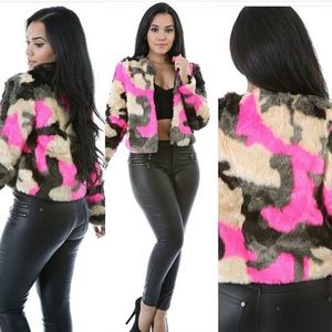 Jackets & Blazers - 🎉SOLD🎉Multi fur jacket