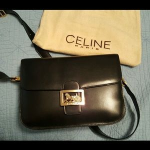 5% off Celine Handbags - ??SOLD??Celine classic box bag in wine ...