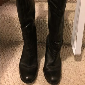 BP Black leather boots- 3in heels