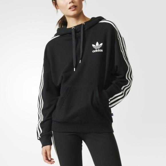 Adidas maglioni nwot originali 3stripes cappuccio poshmark