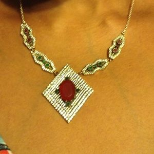 Jewelry - NATURAL RUBY EMERALD TOPAZ NECKLACE