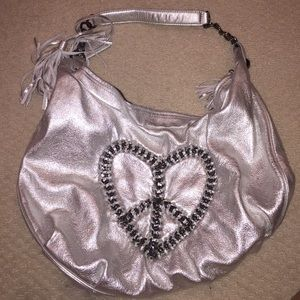 Betsey Johnson silver heart purse