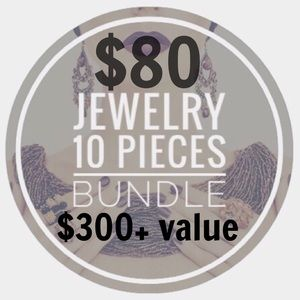10 for $8 each piece JEWELRY BUNDLE 🔴$300+ VALUE