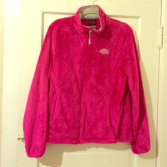 a7237b95d North face fuzzy fleece. Hot pink! Size large!
