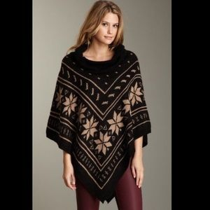 Romeo and Juliet Couture Black & Grey Poncho