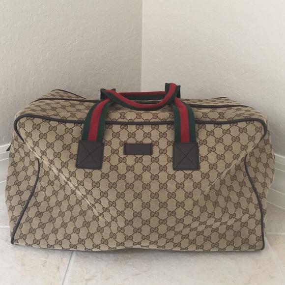 a67691981f1 Gucci Handbags - Gucci canvas duffle bag
