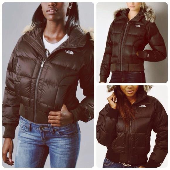 Brown North Face puffer down jacket w  fur hood. M 56326df1f0928242fe0060bc aa87dc640