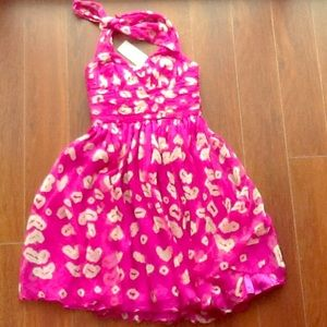 NWT: French Connection pink silk size 4 dress