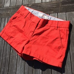 J. Crew Chino Shorts Coral Orange 4