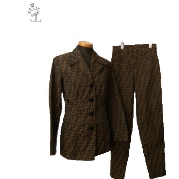 86c87a6d8731 FENDI Jackets   Blazers - Authentic FENDI Zucca pants suit