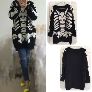 ASOS Hyoma SKELETON oversized sweater