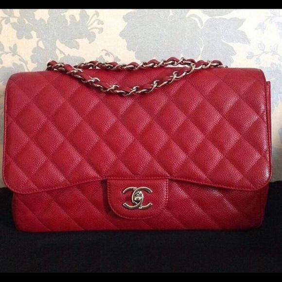 846c6f0d2 CHANEL Bags | Jumbo Flap 10c Red Caviar | Poshmark