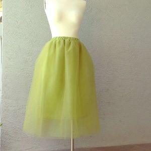 Dresses & Skirts - NWOT Tulle tutu skirt moss green
