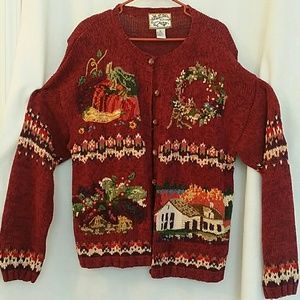 Heirloom collectibles  Sweaters - Heirloom Collectibles Fall Festive Sweater