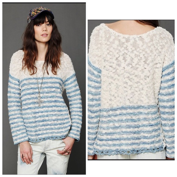 🆕 List! Free People Striped in Crochet Pullover