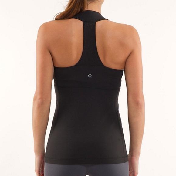 656e5add79424 lululemon athletica Tops - Black lululemon scoop neck tank mesh back sz 8