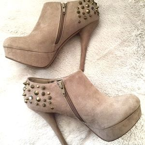ALDO Suede closed toe heels with spikes