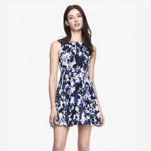 Express Floral Fit and Flare Dress