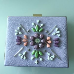 Missguided Handbags - NEW:Embellished lavender clutch
