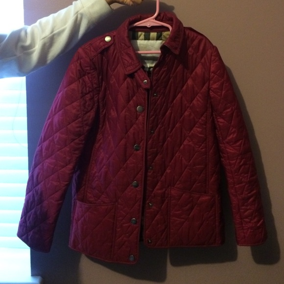 Pink Kids Burberry Quilted Jacket