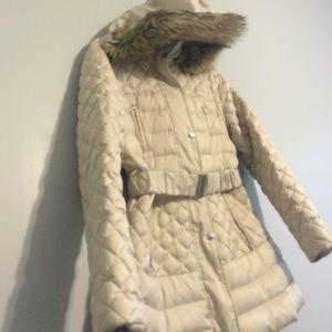 Jackets & Blazers - Cream women's puff jacket