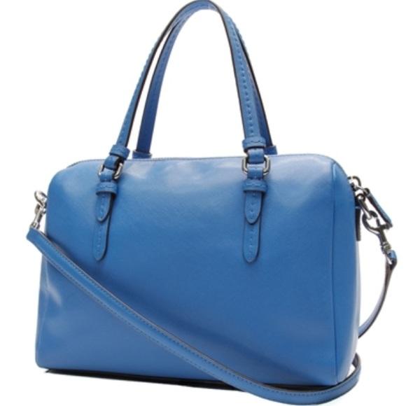 52% off Coach Handbags - Coach Royal Blue Saffiano Leather Purse ...