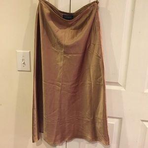 Ralph Lauren 100% silk Tan/Champagne skirt.