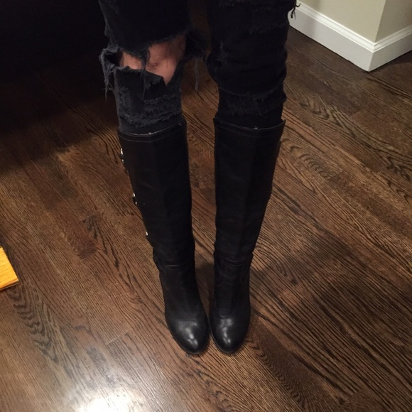 78% off Frye Shoes - Frye Black knee high boots from Ali\'s closet ...