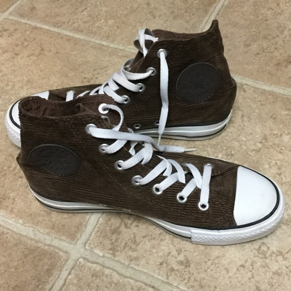 296c07181353a9 Converse Shoes - Converse Chuck Taylor All Star Brown Corduroy Hi