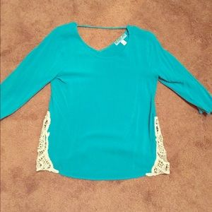 Teal blouse purchased from Francesca's