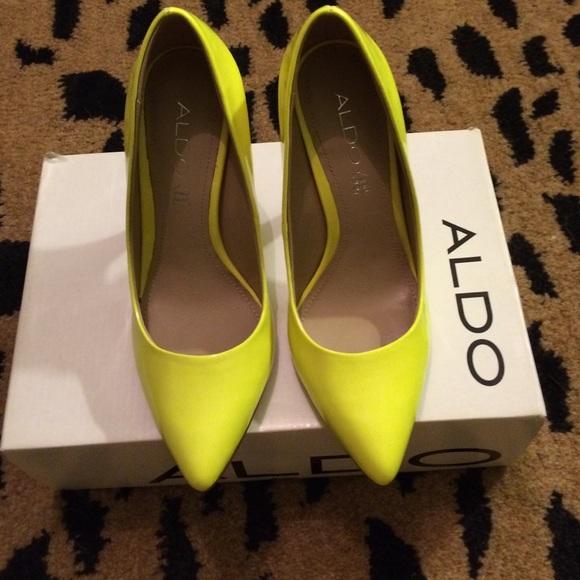 75% off ALDO Shoes - SALE Aldo mease pumps! Fab neon yellow heels ...