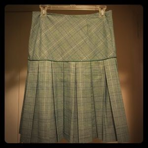 Kenzie pleated plaid skirt