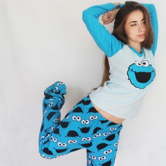 6e4127da Sesame street Intimates & Sleepwear   Cookie Monster Pajama Set ...