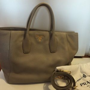 AUTHENTIC PRADA Leather Tote Bag