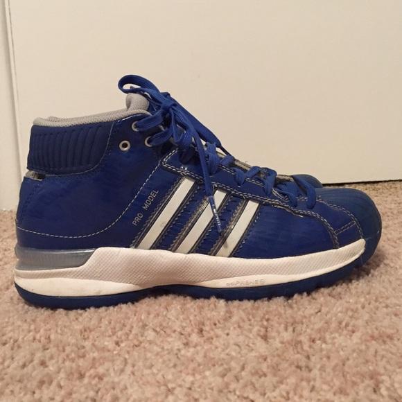 72d80fdc Blue Adidas High Tops! Women's size 7.