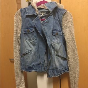 Knitted/jean jacket