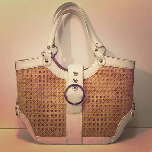 ad15c717cb Rafe New York wicker tote purse. M 5632ef6bc6c79509c5006596