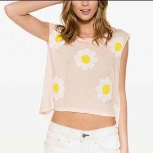 Wildfox daisy sleeveless top