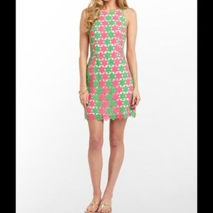 NWT Lilly Pulitzer Pearl Dress 2 Tone Lace Size 12